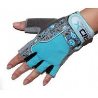 Перчатки для фитнеса женские RDX Blue.  Синий