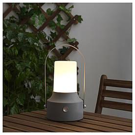 IKEA SOLVINDEN (903.832.02) Светодиодный фонарь от солнечной энергии, серый