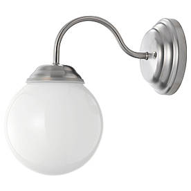 IKEA LILLHOLMEN (500.774.69) Настінний світильник, нікельований, білий