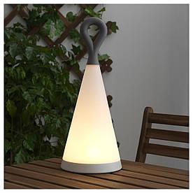 IKEA SOLVINDEN (503.840.91) Настольная лампа для солнечной энергии. Светодиод, треугольник, серый белый