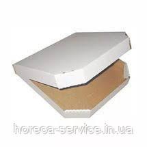 Коробка картонная под пиццу квадратная белая 440*440*4, фото 2