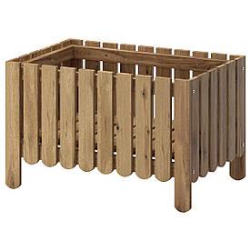 IKEA ASKHOLMEN (302.586.73) Коробка для квітів, сірувато-сіра пляма