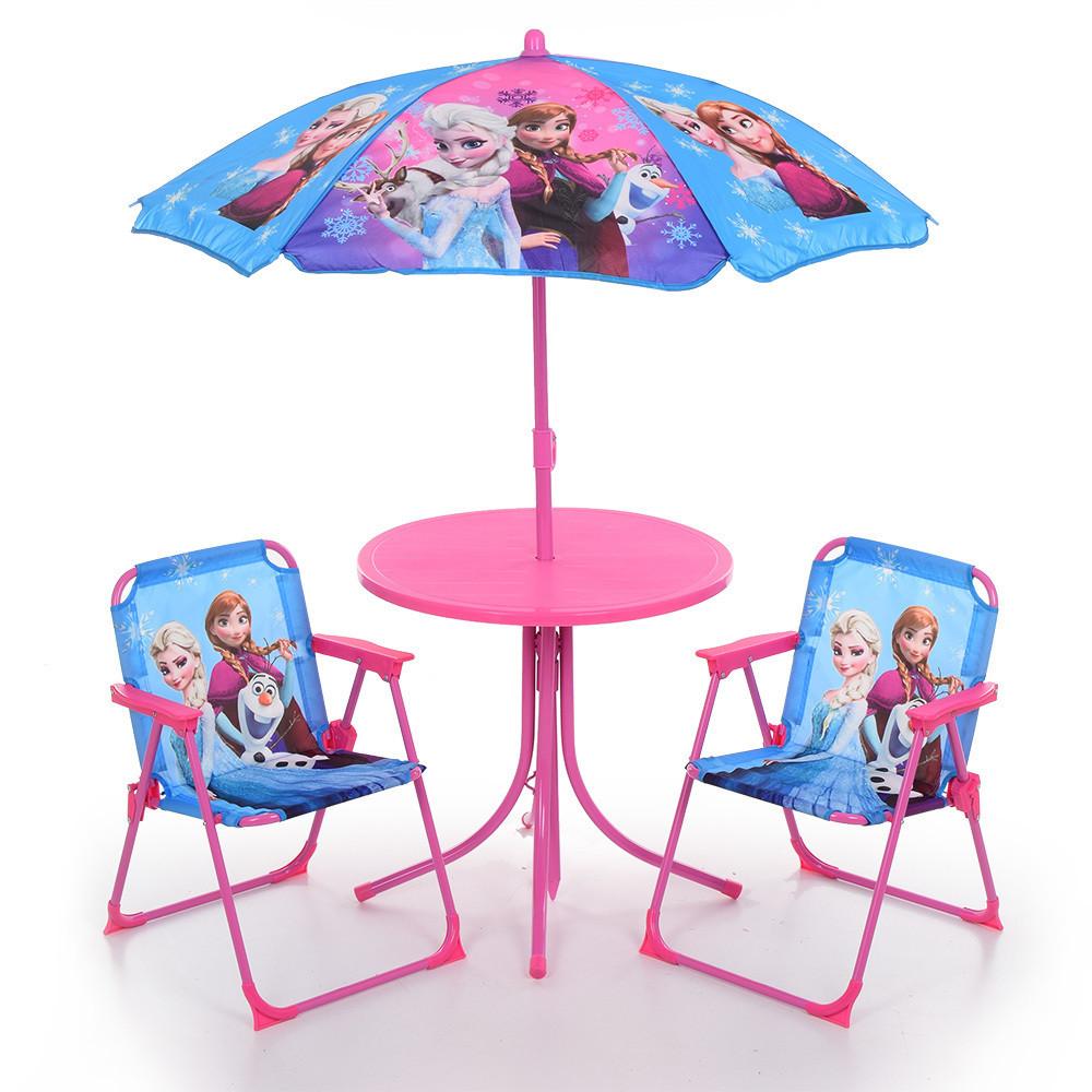 Bambi Столик с зонтиком и стульчиками Bambi Frozen 93-74-FR Blue/Pink (93-74)