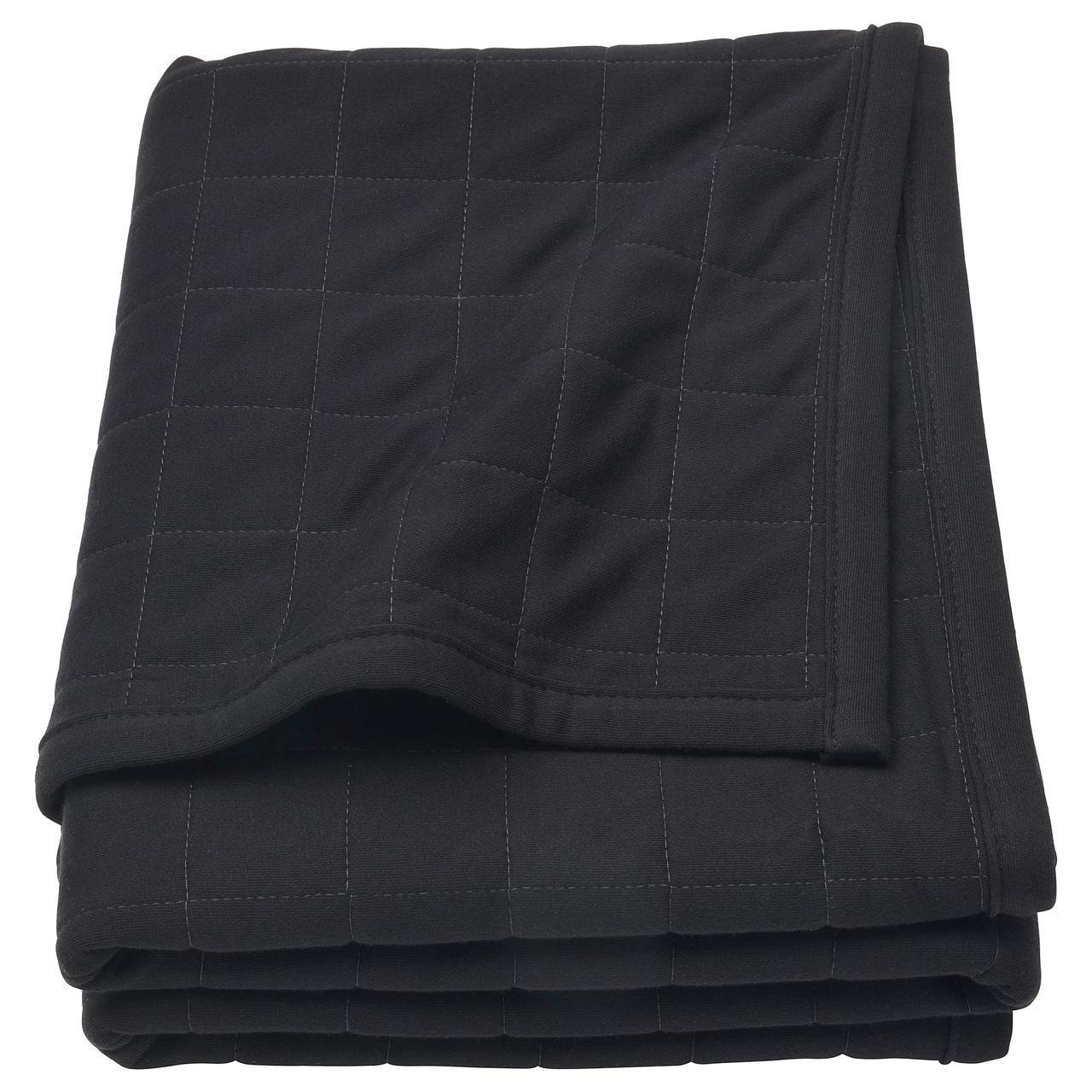 IKEA SPANST (804.131.48) Плед, черный, серый