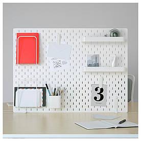 IKEA SKADIS (292.173.77) Перфорована дошка, білий