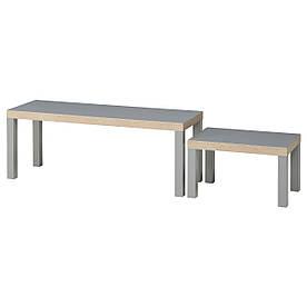 IKEA LACK (603.492.62) Столы, 2 шт., Серый