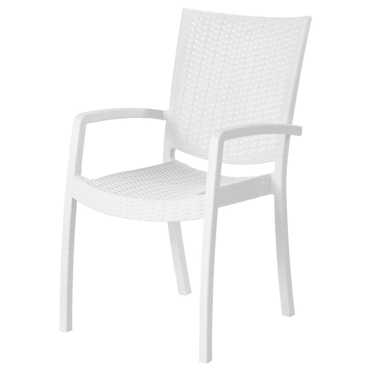 IKEA INNAMO (503.124.24) Стул с подлокотниками, орг., Белый