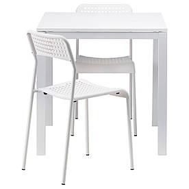 IKEA MELLTORP / ADDE (490.117.66) Стол и 2 стула, белый