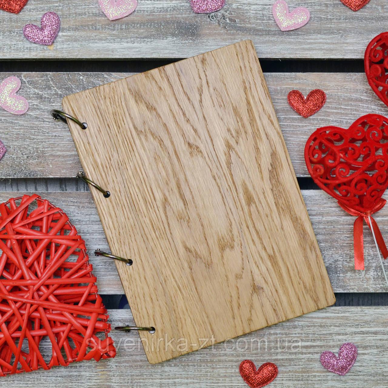 Блокноты с деревянной обложкой. На кольцах А5. (А00613), фото 1