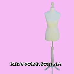 Манекен женский белый портновский для пошива одежды в ателье, бельевой пенопластовый торс (Польша)