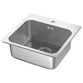 IKEA LANGUDDEN (591.573.91) Одинарна врізна мийка, нержавіюча сталь