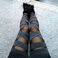 💣 Черные леггинсы для девушек — нарядные лосины с сеткой, легинсы с сеточкой 💣