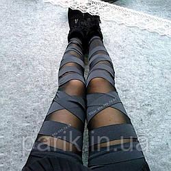 Черные леггинсы для девушек — нарядные лосины с сеткой, легинсы с сеточкой