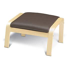 IKEA POANG (598.291.11) Підставка для ніг, ok берези, Надійний Glose ecru