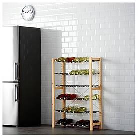 IKEA IVAR (491.335.79) 1 секція/стійка для пляшок, сосна, сірий