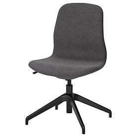 IKEA LANGFJALL (191.749.72) Комп'ютерне крісло, Гуннаред темно-сірий