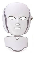 Фотодинамическая(LED) маска с микротоками для лица и накладкой для шеи