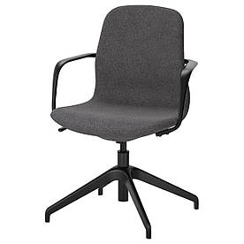 IKEA LANGFJALL (991.762.22) Комп'ютерне крісло, Гуннаред темно-сірий