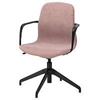 IKEA LANGFJALL (892.618.62) Компьютерное кресло, Gunnared светло-розовый