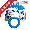 Набор игрушек для собак грейфер 20 см кольцо 8 см скелет рыбы 12,5 см литая резина