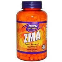 Магний и цинк (Magnesium Zinc), Комплекс ZMA, Now Foods, 180 капсул
