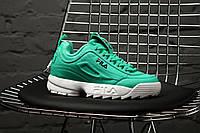 Женские весенние кроссовки Fila Disraptor 2 (green), зеленые женские кроссовки фила дасраптор 2, фото 1