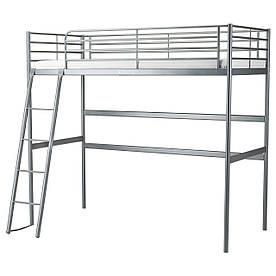 IKEA SVARTA (202.479.82) Кровать-чердак, серебристый