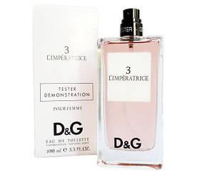 Женские духи тестер в стиле D&G 3 L`Imperatrice (edt 100 ml)