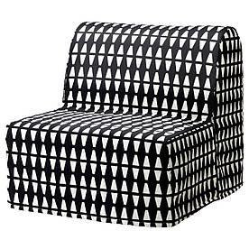 IKEA LYCKSELE LOVAS (991.341.52) Складаний стілець, Ebbarp чорний/білий