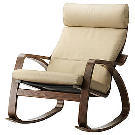 IKEA POANG (499.008.67) Хитний стілець, коричневий,