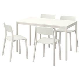 IKEA MELLTORP / JANINGE (591.614.87) Стіл і 4 стільця
