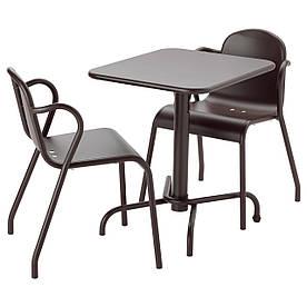 IKEA TUNHOLMEN (591.300.09) Стол + 2 стула, снаружи, серый