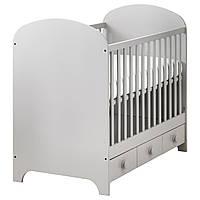 IKEA GONATT (002.579.53) Детская кроватка  светло-серая