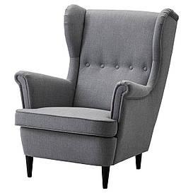 IKEA STRANDMON (203.432.24) Кресло, Skirtteum серый