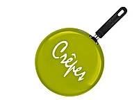 88273 Сковорода блинная Crepe оливковая 26 см Granchio