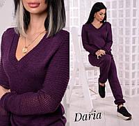 Вязаный  костюм фиолетовый, фото 1