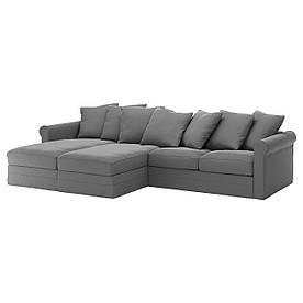 IKEA GRONLID (392.560.71) 4-местный диван, с шезлонгом, Ljungen светло-зеленый