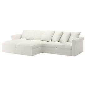 IKEA GRONLID (992.548.04) 4-местный диван, с шезлонгом, Ljungen светло-зеленый