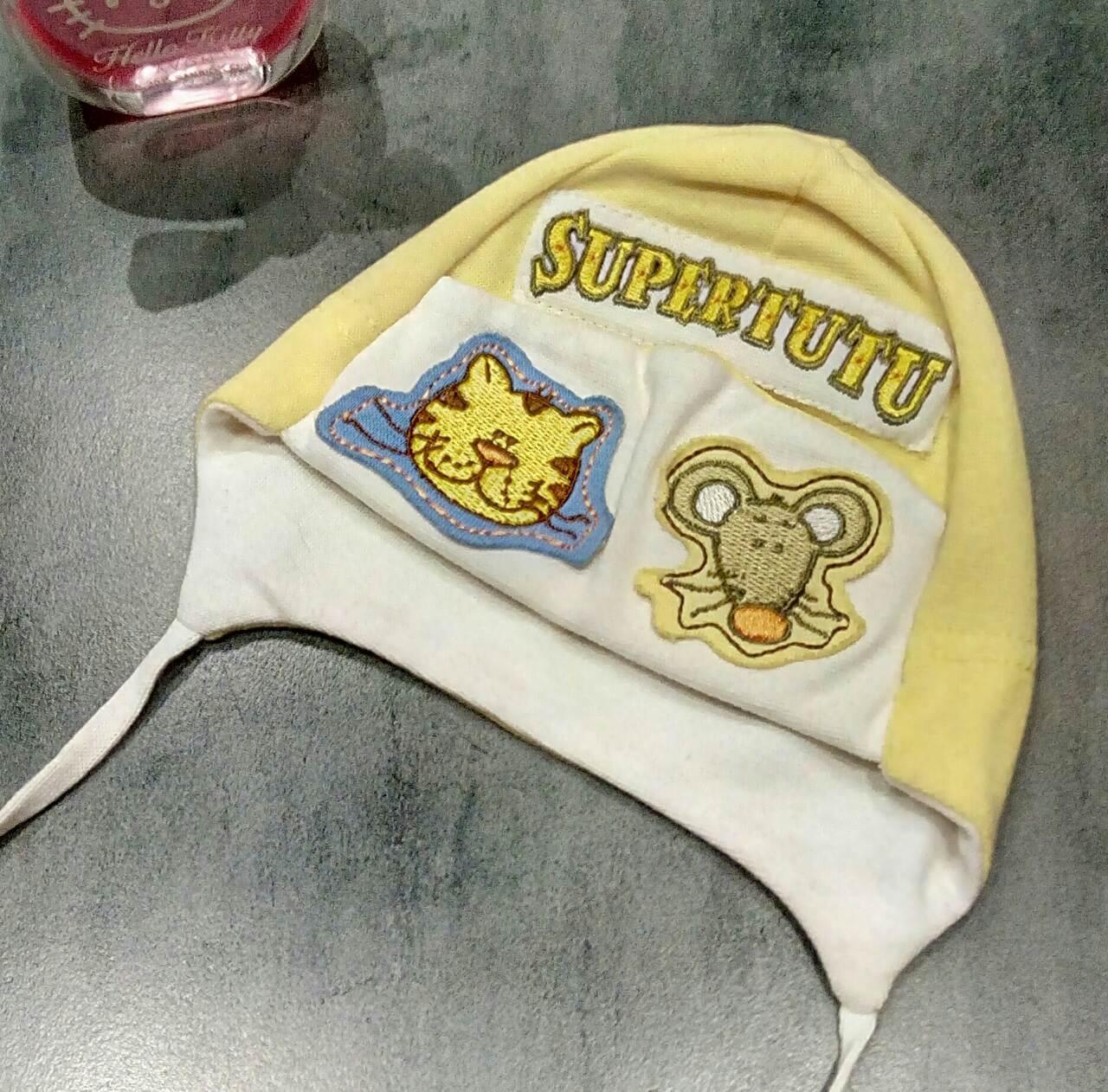 Трикотажная шапочка для новорожденной девочки польской фабрики TuTu р-р 40-42