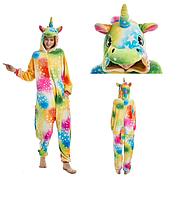 Кигуруми пижама взрослая единорог M Желтый