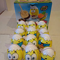Яйцо шоколадное Цеплята Junior 24 шт, 15 гр