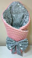 """Зимний  конверт-одеяло на выписку  """"Минки""""  , фото 1"""