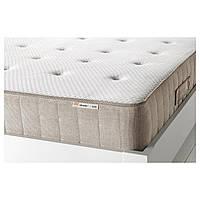 IKEA HESSENG (102.577.40) Матрац, матрас с пружинами карманного типа, натуральный