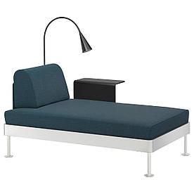 IKEA DELAKTIG (992.598.92) Шезлонги зі столом і лампою, Синюватий синій