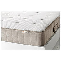 IKEA HESSENG (502.577.38) Матрац, матрас с пружинами карманного типа, натуральный