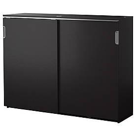 IKEA GALANT (803.431.03) Шафа з розсувними дверима, сірий