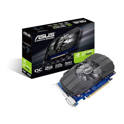 Видеокарта GeForce GT1030 OC, Asus, 2 Гб DDR5, 64-bit (PH-GT1030-O2G), відеокарта, фото 2
