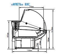 Витрина гастрономическая универсальная ВХСн-1,8 Илеть (-5...+5 С), фото 2