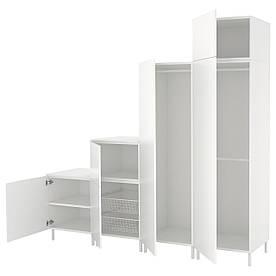 IKEAATSA (992.485.87) гардероб/Шафа, білий, білий білий