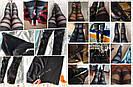 💣 Черные леггинсы для девушек — нарядные лосины с сеткой, легинсы с сеточкой 💣, фото 10